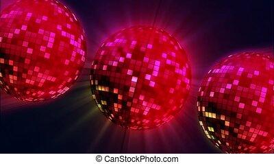 gelul, rood, disco