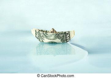 gemaakt, scheeps , dollar, geld