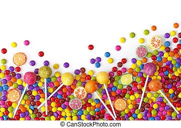gemengd, zoetigheden, kleurrijke
