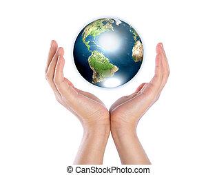 gemeubileerd, dit, nasa), (elements, handen, aarde, beeld