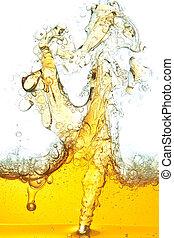 gemorste, abstract, olie, beeld, water.