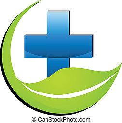 geneeskunde, logo, symbool, natuur