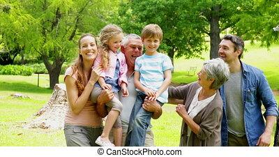 generatie, het poseren, multi, gezin