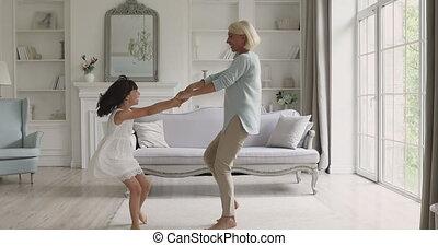 generaties, music., blij, dancing, gezin, energiek, anders
