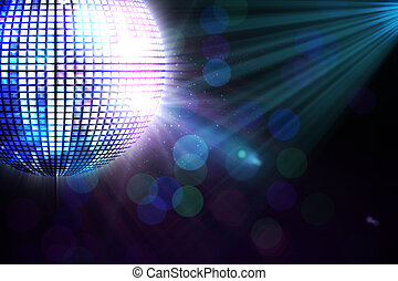 genereren, disco, digitaal, bal