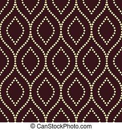 geometrisch patroon, vector, seamless, golvend