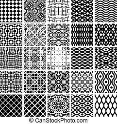 geometrisch, set, patterns., seamles