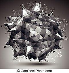 geometrisch, voorwerp, abstract, 3d