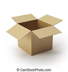 geopend, cartonbox