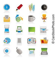 gereedschap, zakenkantoor, iconen