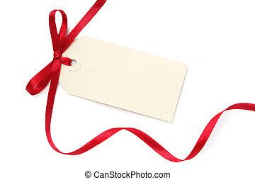 geschenk buiging, leeg, label