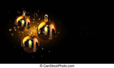 gesmolten, goud, kerstmis bal, jaarwisseling, nacht, feestje