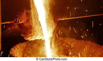 gesmolten, plant, metallurgical, metaal, gesmolten