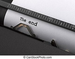 "getypt, end"", ouderwetse , typewriter., ""the, boodschap"