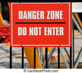 gevaar, zone, meldingsbord