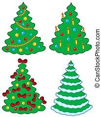 gevarieerd, kerstbomen
