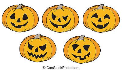 gevarieerd, pompoennen, halloween