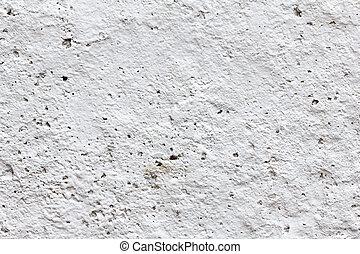 geverfde, beton, witte muur, achtergrond