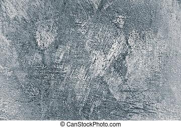geverfde, pleister, vignet, beton, achtergrond, witte muur