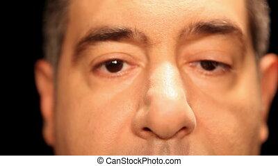 gezicht, eyes, close-up, extreem, mannen