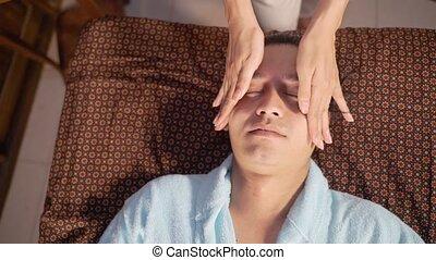 gezichts, jonge vrouwen, massages