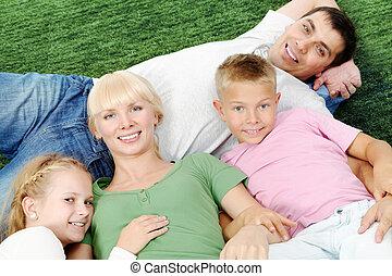gezin, het rusten