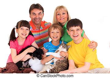 gezin, huisdieren