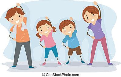 gezin, oefening