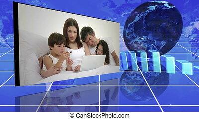 gezin, volgende, statistiek, video's