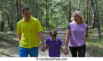 gezin, wandeling