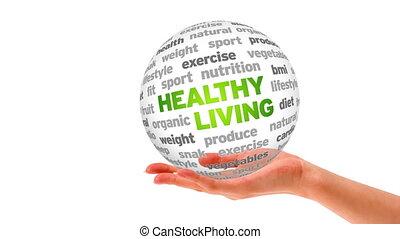 gezond leven, woord, bol