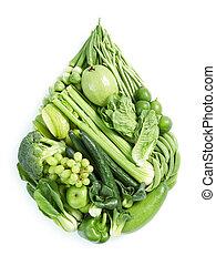 gezond voedsel, groene