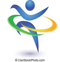 gezonde , logo, vector, vrolijke