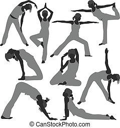 gezonde vrouw, maniertjes, yoga, oefening