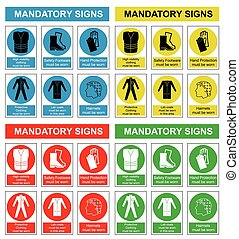 gezondheid, veiligheid, verzameling, meldingsbord