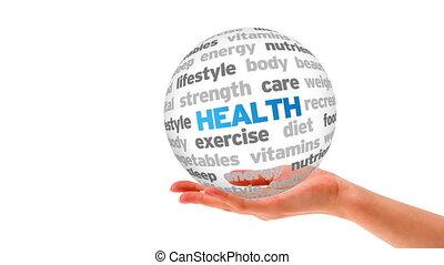 gezondheid, woord, bol