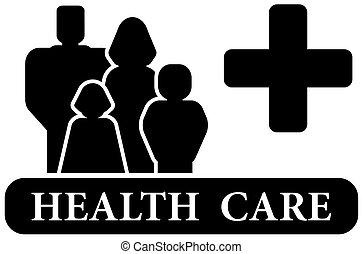 gezondheidszorg, black , pictogram