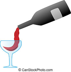 gietende wijn