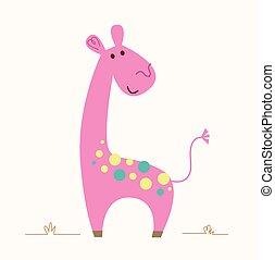 giraffe, roze