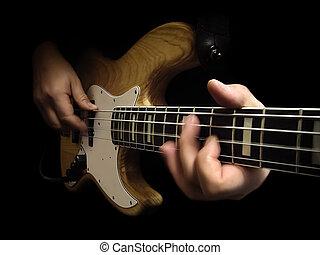gitaar, elektrische bas