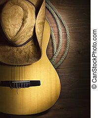 gitaar, land, hout, muziek, achtergrond