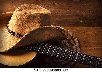 gitaar, land muziek, achtergrond