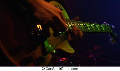gitaar, rots, rol, n