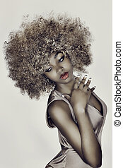 glamour, haar, model