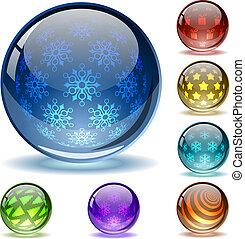 glanzend, innerlijke , abstract, bollen, patterns10, file., kerstmis, anders, kleurrijke, sferisch