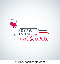 glas fles, achtergrond, wijntje