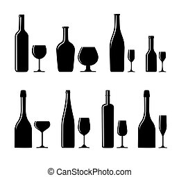 glas fles, alcoholhoudend