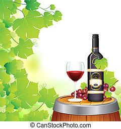 glas fles, wijntje