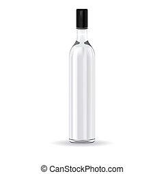 glas fles, wodka, russische