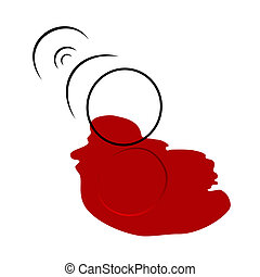glas, gemorste, wijntje